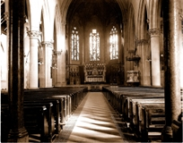 Interior of St Peter's on its opening in 1859